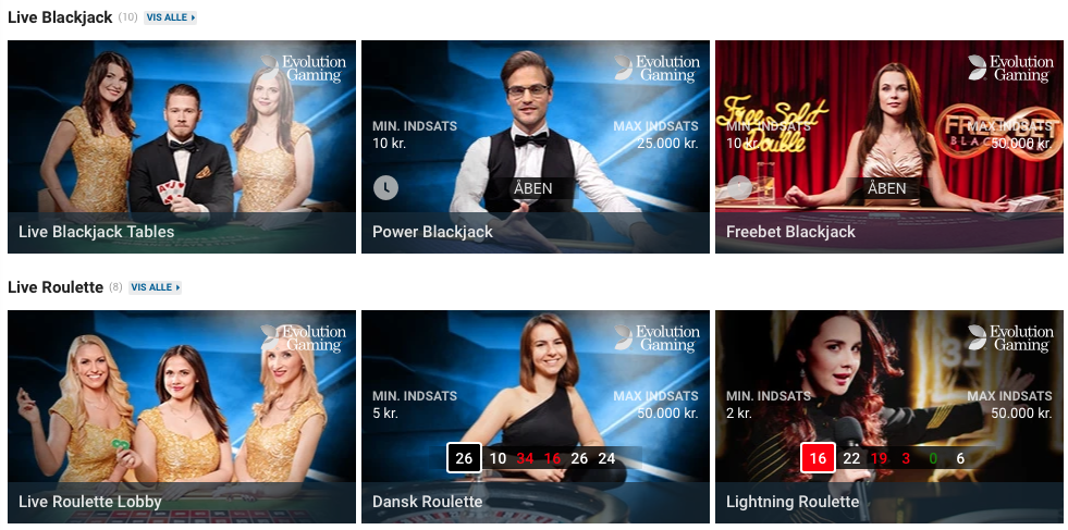 NordicBet Casino live casino