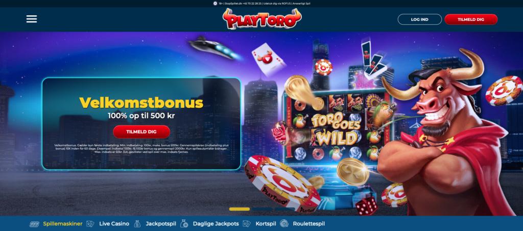 PlayToro bonuskode forside