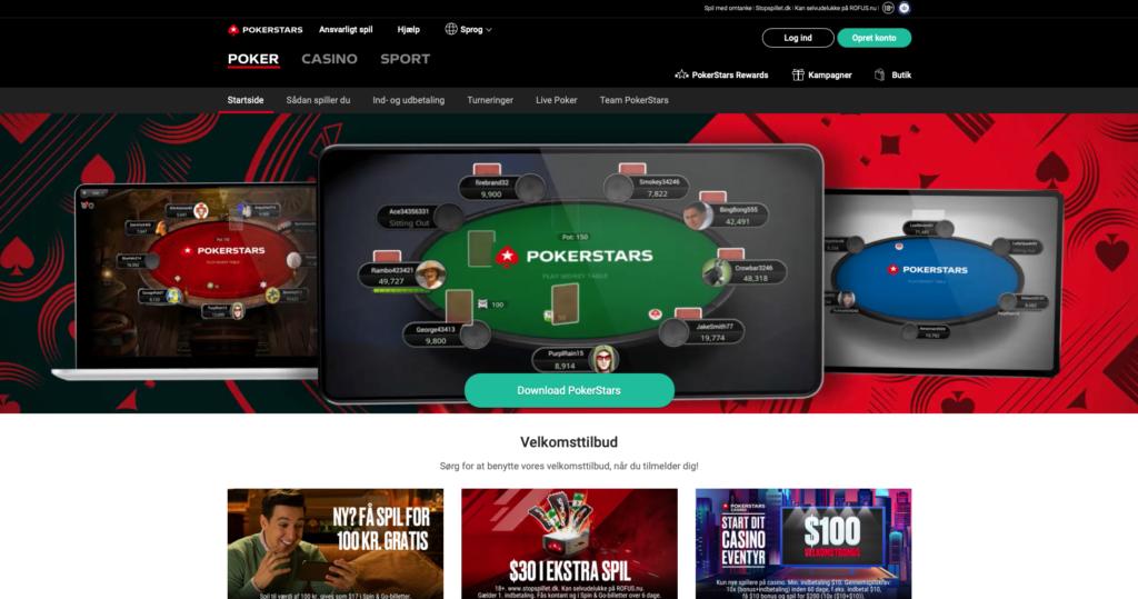 Pokerstars bonuskode forside