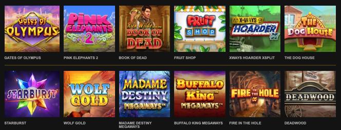 Stort udvalg af spilleautomater hos VideoSlots