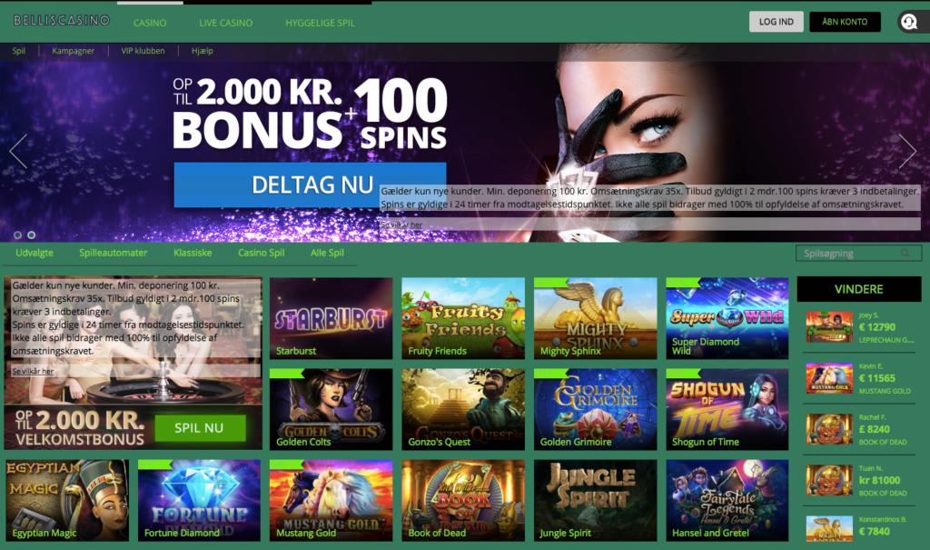Bellis Casino hjemmeside