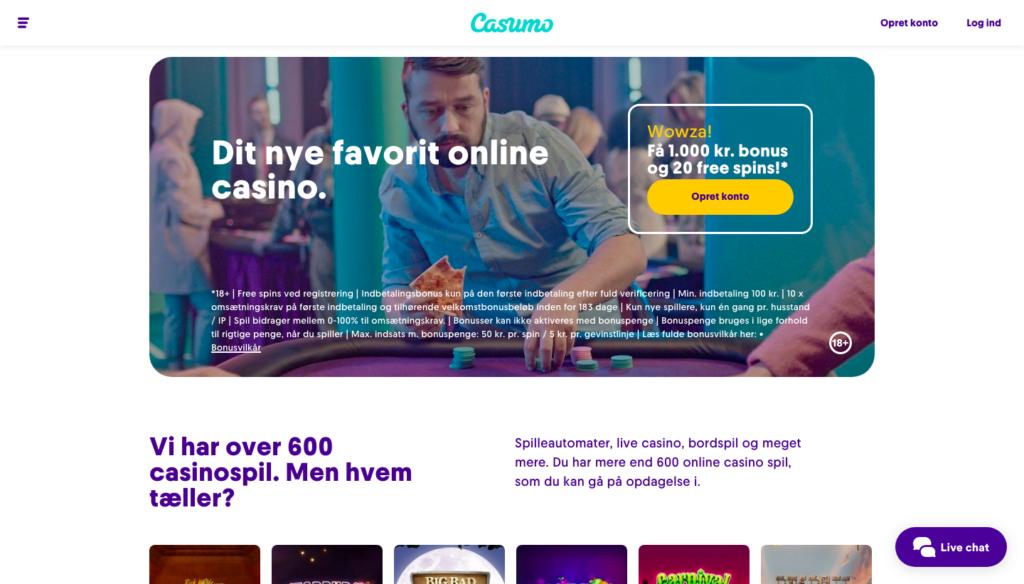 Casumo casino hjemmeside