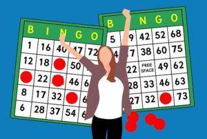 En glad online bingo vinder