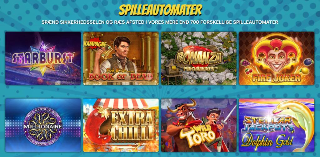 Kapow Casino spilleautomater