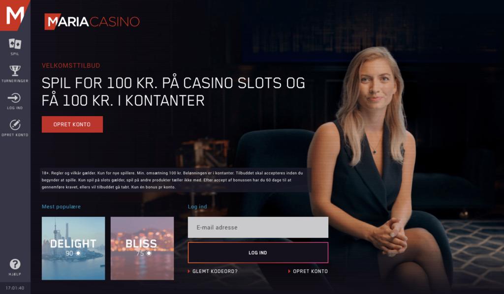 Maria Casino hjemmeside