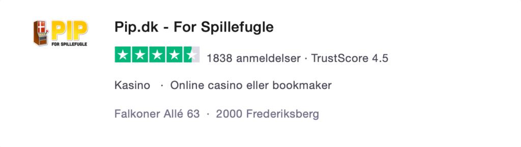 Pip.dk trustpilot