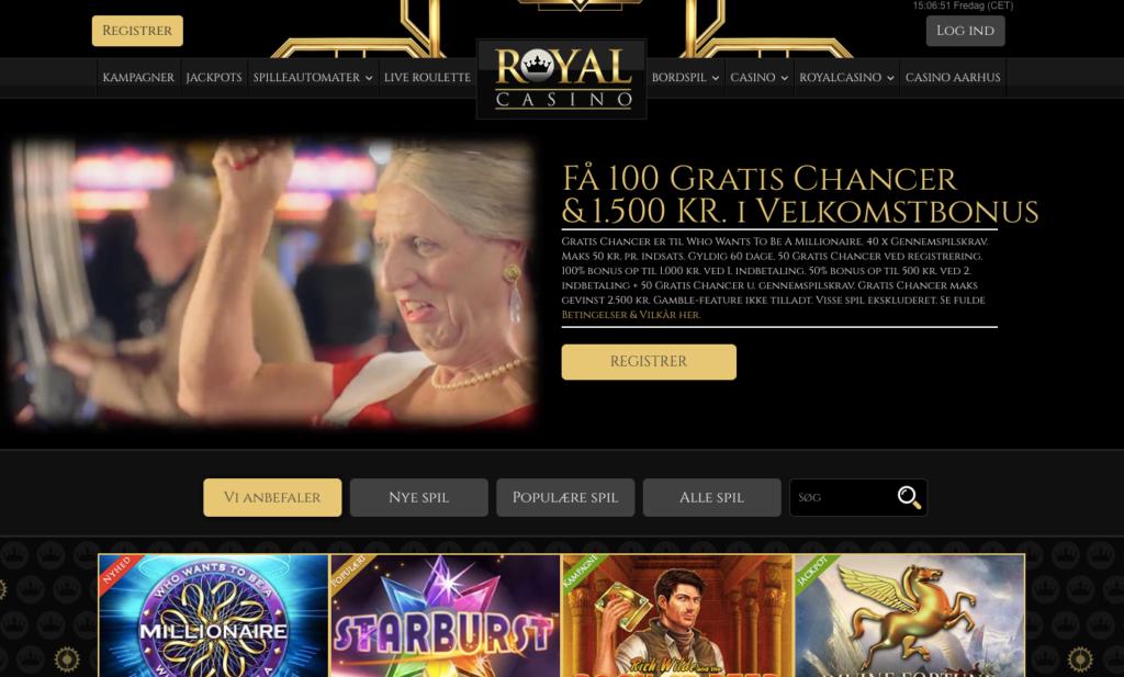 Royal Casino hjemmeside