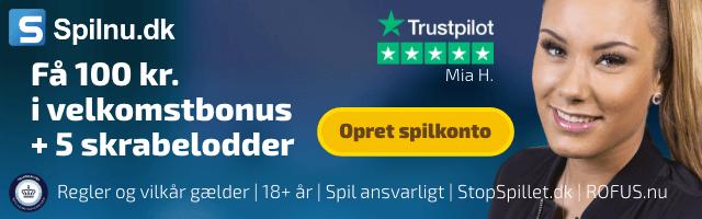 Spilnu bonuskode - 100 kr. + 5 skrabelodder