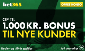 Bet365 bonuskode 1.000 kr. bonus