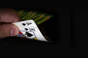 Spillekort en konge og es