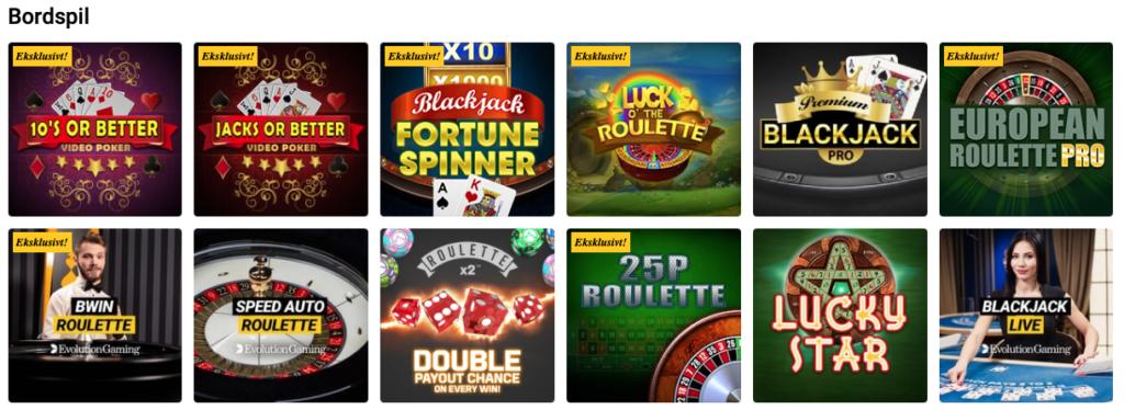 Bwin Casino bordspil