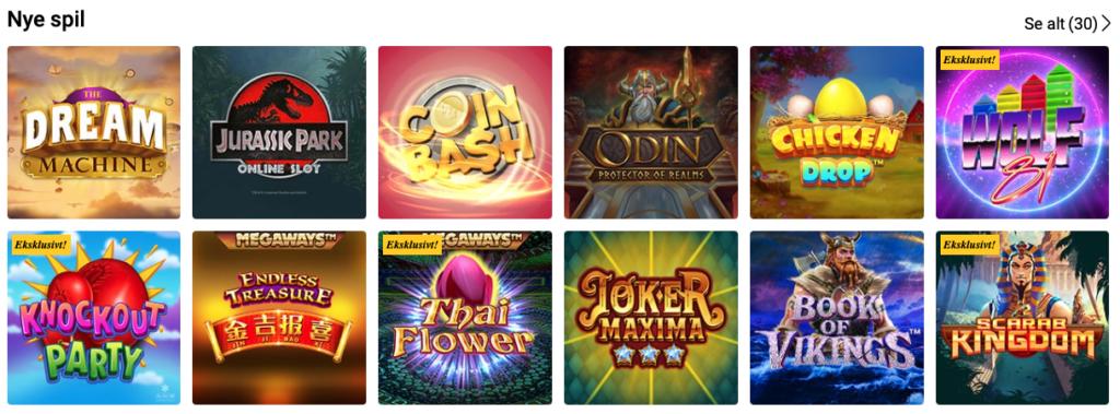 Nye spilleautomater hos Bwin Casino